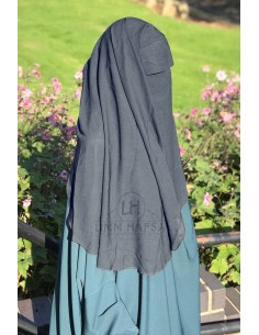 "2 Layer Flap Niqab ""3ft1"" by Umm Hafsa - Grey"