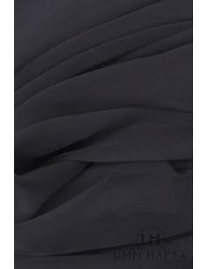 NIQAB DEUX VOILES 95CM UMM HAFSA - Noir