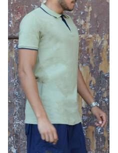 Oversized polo shirt 100% cotton Rayane - Green