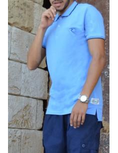Oversized polo shirt 100% cotton Rayane - Royal blue