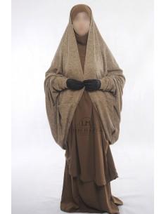 Gilet sur jilbab Maryam de Umm Hafsa - Taupe