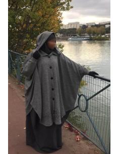 Hafsa jilbab cardigan from Umm Hafsa – Gray