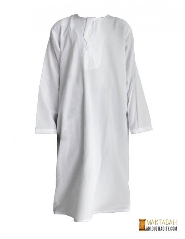 Qamis garcon (2 - 14 ans) - Blanc