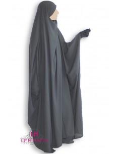 Jilbab Saudi 1 Stück Classic Umm Hafsa - grau