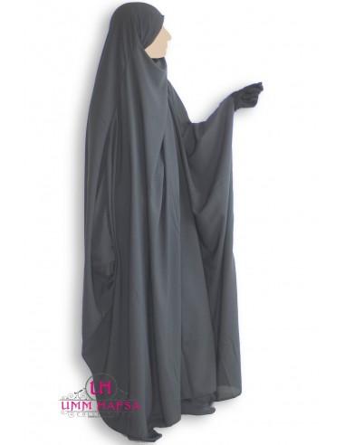 Jilbeb Saoudien Classique Umm Hafsa - Gris