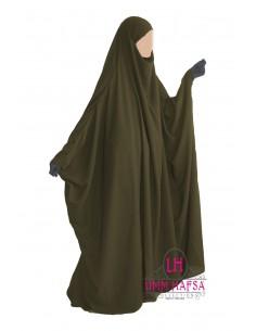 Jilbab Saudi 1 Stück Classic Umm Hafsa - khaki