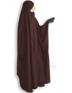 Jilbab Saudi 1 Stück Classic Umm Hafsa - braun