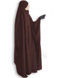 Jilbeb Saoudien Classique Umm Hafsa - Marron